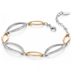 Silver/Gold Marquise Bracelet