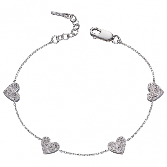 2c1119a64 Silver Heart And Pave Bracelet - Robert Anthony Jewellers