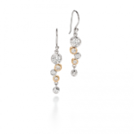 Silver/Gold Waterfall Earrings