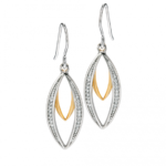 Silver/Gold Double Marquise Earrings