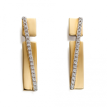 Gold Pave Band Earrings
