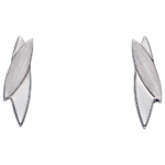 Silver Navetes Brushed Earring