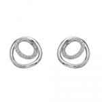 Silver Circle/Spiral Earrings
