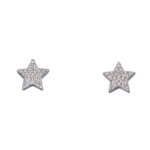 Silver Star Pave Earrings