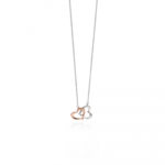 Silver/Rose Gold Multi Heart Necklace