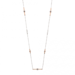 Silver/Gold Tubular Staion Necklace