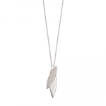 Silver Navetes Brushed Pendant