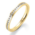 9CT GOLD CHANNEL SET DIAMOND BAND
