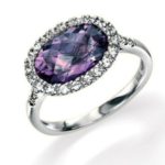 AMETHYST & WHITE SAPPHIRE RING