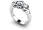 AVOCA DIAMOND THREE STONE RING