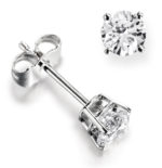 BRILLIANT 4-CLAW DIAMOND EARRING