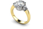 DANUBE DIAMOND THREE STONE RING