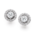 HALO WHITE GOLD DIAMOND EARRINGS
