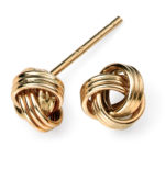 9CT KNOT STUDD EARRINGS
