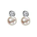 PEARL & CZ EARRINGS