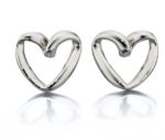FIORELLI RIBBON HEART EARRINGS
