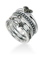 MARCASITE STACKING RINGS