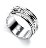 LAYERED SILVER RING